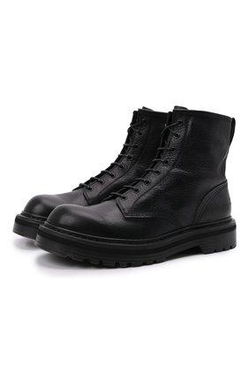 Мужские кожаные ботинки PREMIATA черного цвета, арт. 31543/V0LANAT0 | Фото 1 (Материал внутренний: Натуральная кожа; Мужское Кросс-КТ: Ботинки-обувь; Подошва: Массивная)
