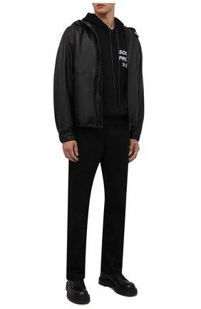 Мужские кожаные ботинки PREMIATA черного цвета, арт. 31543/V0LANAT0 | Фото 2 (Материал внутренний: Натуральная кожа; Мужское Кросс-КТ: Ботинки-обувь; Подошва: Массивная)