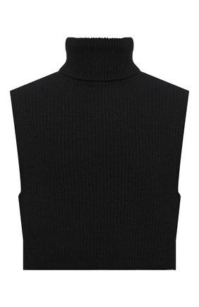 Мужские шерстяная манишка DRIES VAN NOTEN черного цвета, арт. 212-022208-3703   Фото 1 (Материал: Шерсть)