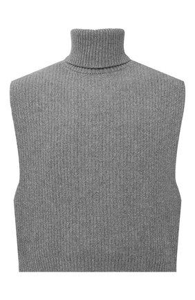 Мужские шерстяная манишка DRIES VAN NOTEN серого цвета, арт. 212-022208-3703   Фото 1 (Материал: Шерсть)