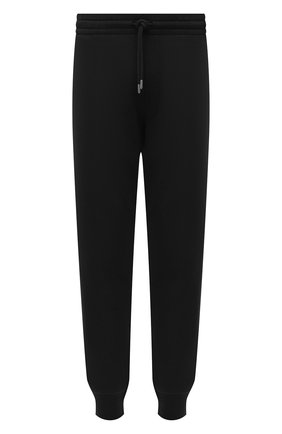 Мужские хлопковые джоггеры DRIES VAN NOTEN черного цвета, арт. 212-021114-3608 | Фото 1 (Материал внешний: Хлопок; Длина (брюки, джинсы): Стандартные; Силуэт М (брюки): Джоггеры; Мужское Кросс-КТ: Брюки-трикотаж; Стили: Спорт-шик)