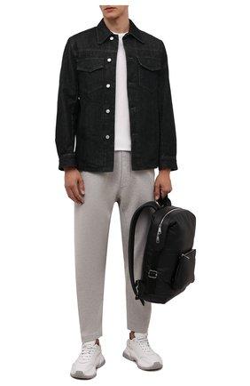 Мужская джинсовая куртка DRIES VAN NOTEN черного цвета, арт. 212-020506-3372   Фото 2 (Длина (верхняя одежда): Короткие; Рукава: Длинные; Материал внешний: Хлопок; Кросс-КТ: Куртка, Деним; Стили: Кэжуэл)