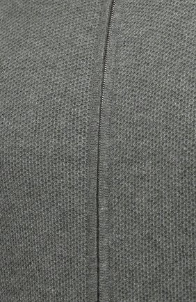 Мужской кашемировый кардиган FEDELI серого цвета, арт. 4UI08065 | Фото 5 (Мужское Кросс-КТ: Кардиган-одежда; Материал внешний: Шерсть, Кашемир; Рукава: Длинные; Длина (для топов): Стандартные; Стили: Кэжуэл)