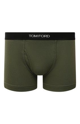 Мужские хлопковые боксеры TOM FORD зеленого цвета, арт. T4LC31040   Фото 1 (Материал внешний: Хлопок; Кросс-КТ: бельё; Мужское Кросс-КТ: Трусы)