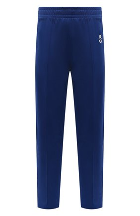 Мужские брюки ISABEL MARANT синего цвета, арт. PA2031-21A015H/INAYS   Фото 1 (Материал внешний: Синтетический материал, Хлопок; Длина (брюки, джинсы): Стандартные; Кросс-КТ: Спорт; Стили: Спорт-шик)