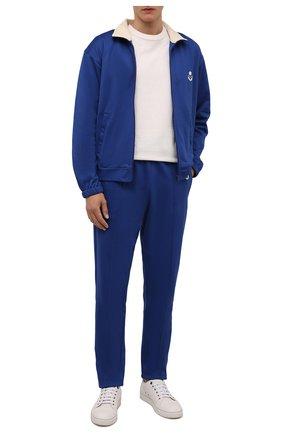 Мужские брюки ISABEL MARANT синего цвета, арт. PA2031-21A015H/INAYS   Фото 2 (Материал внешний: Синтетический материал, Хлопок; Длина (брюки, джинсы): Стандартные; Кросс-КТ: Спорт; Стили: Спорт-шик)