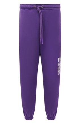 Мужские хлопковые джоггеры PHARMACY INDUSTRY фиолетового цвета, арт. PHMSP262   Фото 1 (Материал внешний: Хлопок; Силуэт М (брюки): Джоггеры; Кросс-КТ: Спорт; Мужское Кросс-КТ: Брюки-трикотаж; Стили: Спорт-шик; Длина (брюки, джинсы): Стандартные)