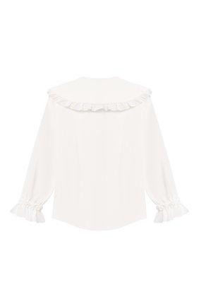 Детское хлопковая блузка ZHANNA & ANNA белого цвета, арт. ZALW10062021   Фото 2 (Материал внешний: Хлопок, Синтетический материал; Рукава: Длинные)