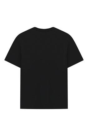 Детская хлопковая футболка MSGM KIDS черного цвета, арт. MS027706 | Фото 2 (Материал внешний: Хлопок; Девочки Кросс-КТ: футболка-одежда; Рукава: Короткие; Ростовка одежда: 10 - 11 лет | 140 - 146см, 12 лет | 152 см, 13 - 15 лет | 158 см, 8 лет | 128 см)