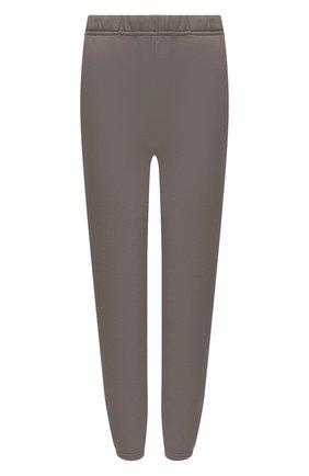 Женские хлопковые джоггеры LES TIEN коричневого цвета, арт. CF-3001 | Фото 1 (Материал внешний: Хлопок; Стили: Кэжуэл; Кросс-КТ: Трикотаж; Женское Кросс-КТ: Джоггеры - брюки; Силуэт Ж (брюки и джинсы): Джоггеры; Длина (брюки, джинсы): Удлиненные, Стандартные)