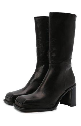 Женские кожаные ботильоны abril MIISTA черного цвета, арт. MI_2976 | Фото 1 (Каблук высота: Высокий; Подошва: Платформа; Материал внутренний: Натуральная кожа; Каблук тип: Устойчивый)