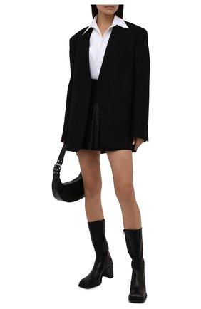 Женские кожаные ботильоны abril MIISTA черного цвета, арт. MI_2976 | Фото 2 (Каблук высота: Высокий; Подошва: Платформа; Материал внутренний: Натуральная кожа; Каблук тип: Устойчивый)