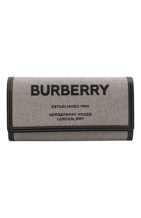 Женские кошелек BURBERRY черного цвета, арт. 8044349 | Фото 1 (Материал: Текстиль)