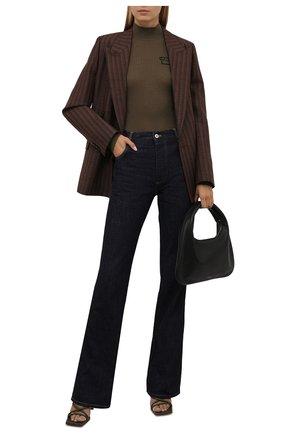 Женская шерстяная водолазка VERSACE хаки цвета, арт. 1002206/1A01684   Фото 2 (Материал внешний: Шерсть; Длина (для топов): Стандартные; Рукава: Длинные; Стили: Кэжуэл; Женское Кросс-КТ: Водолазка-одежда)