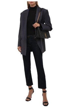 Женская шерстяная водолазка VERSACE черного цвета, арт. 1002206/1A01684   Фото 2 (Материал внешний: Шерсть; Длина (для топов): Стандартные; Рукава: Длинные; Стили: Кэжуэл; Женское Кросс-КТ: Водолазка-одежда)