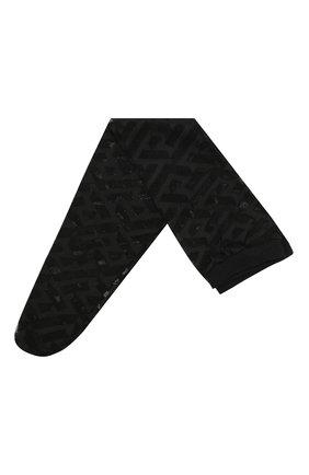 Женские носки VERSACE черного цвета, арт. 1001544/1A01647   Фото 1 (Материал внешний: Синтетический материал)