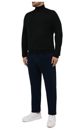 Мужские хлопковые брюки MARCO PESCAROLO синего цвета, арт. CHIAIAM/ZIP+SFILA/4402 | Фото 2 (Материал внешний: Хлопок; Случай: Повседневный; Стили: Кэжуэл; Big sizes: Big Sizes; Длина (брюки, джинсы): Стандартные)