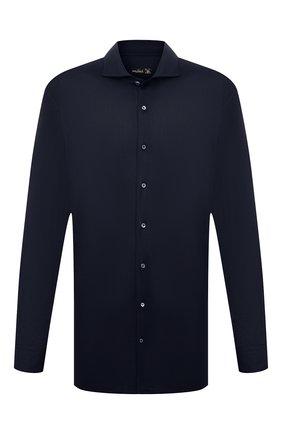 Мужская хлопковая рубашка VAN LAACK синего цвета, арт. M-PER-LSF/187049/3XL | Фото 1 (Рукава: Длинные; Длина (для топов): Стандартные; Материал внешний: Хлопок; Случай: Повседневный; Принт: Однотонные; Манжеты: На пуговицах; Рубашки М: Regular Fit; Воротник: Акула; Стили: Кэжуэл)