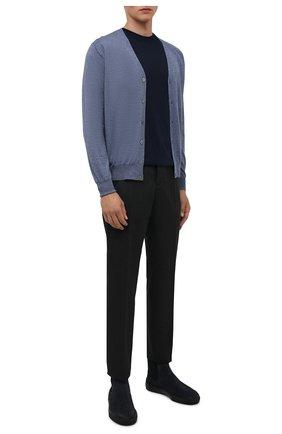 Мужской шерстяной кардиган CANALI голубого цвета, арт. C0007/MK00077 | Фото 2 (Материал внешний: Шерсть; Мужское Кросс-КТ: Кардиган-одежда; Рукава: Длинные; Стили: Кэжуэл; Длина (для топов): Стандартные)
