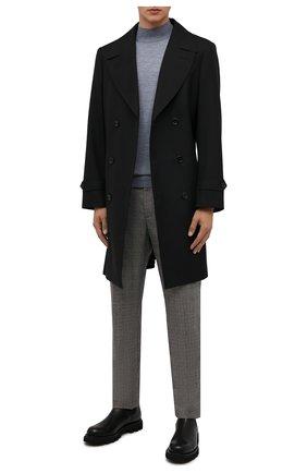 Мужской шерстяная водолазка FEDELI серо-голубого цвета, арт. 4UI07128 | Фото 2 (Материал внешний: Шерсть; Длина (для топов): Стандартные; Рукава: Длинные; Мужское Кросс-КТ: Водолазка-одежда; Принт: Без принта; Стили: Кэжуэл)