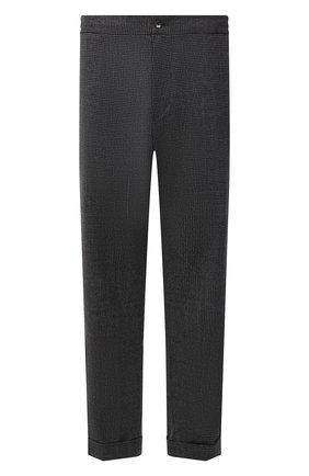 Мужские шерстяные брюки MARCO PESCAROLO серого цвета, арт. CHIAIAM/ZIP+RIS/4422 | Фото 1 (Материал внешний: Шерсть; Случай: Повседневный; Стили: Кэжуэл; Big sizes: Big Sizes; Длина (брюки, джинсы): Стандартные)