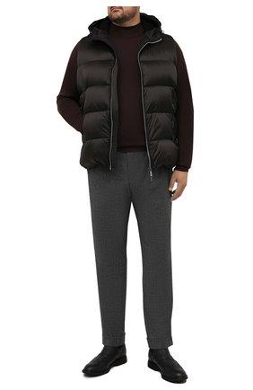 Мужские шерстяные брюки MARCO PESCAROLO серого цвета, арт. CHIAIAM/ZIP+RIS/4422 | Фото 2 (Материал внешний: Шерсть; Случай: Повседневный; Стили: Кэжуэл; Big sizes: Big Sizes; Длина (брюки, джинсы): Стандартные)