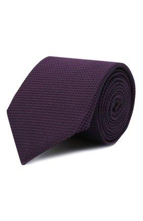Мужской шелковый галстук CORNELIANI фиолетового цвета, арт. 88U302-1820305/00 | Фото 1 (Материал: Текстиль, Шелк; Принт: Без принта)