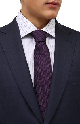 Мужской шелковый галстук CORNELIANI фиолетового цвета, арт. 88U302-1820305/00 | Фото 2 (Материал: Текстиль, Шелк; Принт: Без принта)
