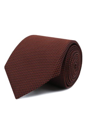 Мужской шелковый галстук CORNELIANI светло-коричневого цвета, арт. 88U302-1820305/00 | Фото 1 (Материал: Шелк, Текстиль; Принт: Без принта)