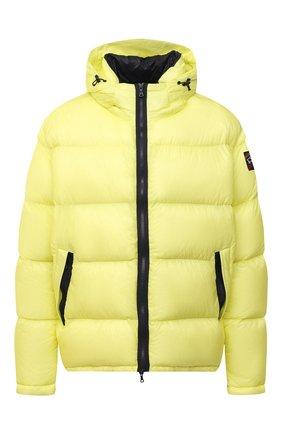 Мужская пуховая куртка PAUL&SHARK желтого цвета, арт. 11312070/I3C/3XL-6XL   Фото 1 (Материал подклада: Синтетический материал; Материал внешний: Синтетический материал; Материал утеплителя: Пух и перо; Кросс-КТ: Куртка; Мужское Кросс-КТ: пуховик-короткий; Стили: Кэжуэл; Big sizes: Big Sizes; Длина (верхняя одежда): Короткие; Рукава: Длинные)