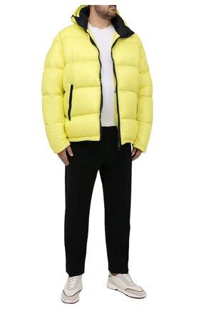 Мужская пуховая куртка PAUL&SHARK желтого цвета, арт. 11312070/I3C/3XL-6XL   Фото 2 (Материал подклада: Синтетический материал; Материал внешний: Синтетический материал; Материал утеплителя: Пух и перо; Кросс-КТ: Куртка; Мужское Кросс-КТ: пуховик-короткий; Стили: Кэжуэл; Big sizes: Big Sizes; Длина (верхняя одежда): Короткие; Рукава: Длинные)