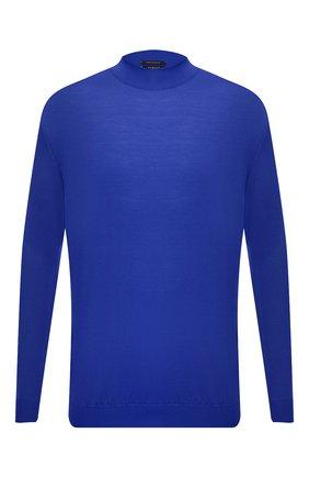 Мужской шерстяная водолазка SVEVO синего цвета, арт. 1314/3XSA21/MP13 | Фото 1 (Материал внешний: Шерсть; Длина (для топов): Стандартные; Рукава: Длинные; Мужское Кросс-КТ: Водолазка-одежда; Принт: Без принта; Стили: Кэжуэл; Big sizes: Big Sizes)