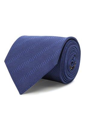 Мужской шелковый галстук BRIONI синего цвета, арт. 062H00/01442 | Фото 1 (Материал: Текстиль, Шелк; Принт: С принтом)