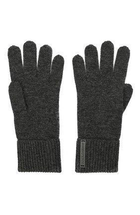 Мужские шерстяные перчатки DOLCE & GABBANA темно-серого цвета, арт. GXG60T/JBVC4 | Фото 2 (Материал: Шерсть; Кросс-КТ: Трикотаж)