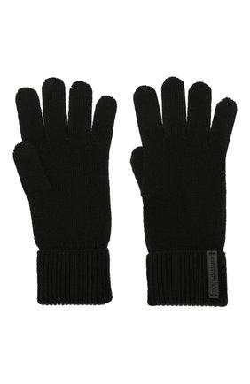 Мужские шерстяные перчатки DOLCE & GABBANA черного цвета, арт. GXG60T/JBVC4 | Фото 2 (Материал: Шерсть; Кросс-КТ: Трикотаж)