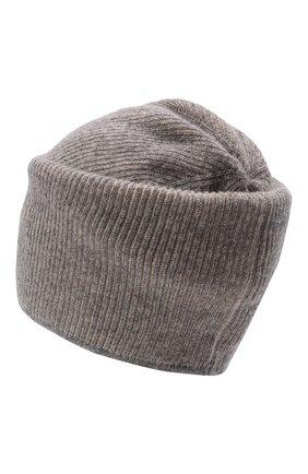 Мужская кашемировая шапка INVERNI серого цвета, арт. 5369 CM   Фото 2 (Материал: Шерсть, Кашемир; Кросс-КТ: Трикотаж)