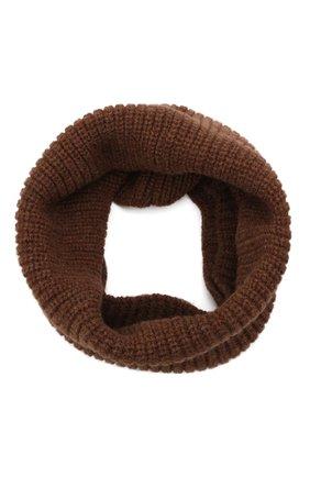 Мужской шерстяной шарф-снуд INVERNI коричневого цвета, арт. 5308 SM   Фото 1 (Материал: Шерсть; Кросс-КТ: шерсть)