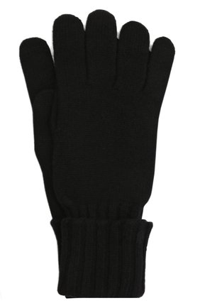 Мужские кашемировые перчатки INVERNI черного цвета, арт. 5047 GU   Фото 1 (Материал: Шерсть, Кашемир; Кросс-КТ: Трикотаж)