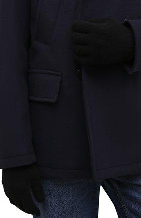 Мужские кашемировые перчатки INVERNI черного цвета, арт. 5047 GU   Фото 2 (Материал: Шерсть, Кашемир; Кросс-КТ: Трикотаж)