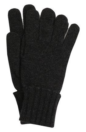 Мужские кашемировые перчатки INVERNI темно-серого цвета, арт. 5047 GU   Фото 1 (Материал: Шерсть, Кашемир; Кросс-КТ: Трикотаж)