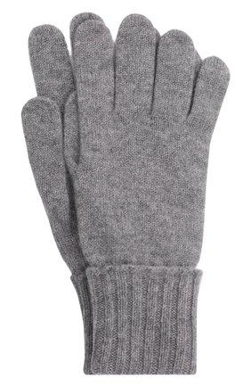 Мужские кашемировые перчатки INVERNI светло-серого цвета, арт. 5047 GU   Фото 1 (Материал: Кашемир, Шерсть; Кросс-КТ: Трикотаж)