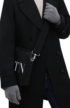 Мужские кашемировые перчатки INVERNI светло-серого цвета, арт. 5047 GU   Фото 2 (Материал: Кашемир, Шерсть; Кросс-КТ: Трикотаж)