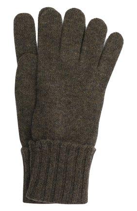 Мужские кашемировые перчатки INVERNI хаки цвета, арт. 5047 GU   Фото 1 (Материал: Шерсть, Кашемир; Кросс-КТ: Трикотаж)