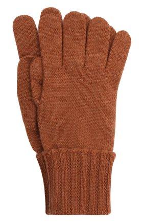 Мужские кашемировые перчатки INVERNI светло-коричневого цвета, арт. 5047 GU   Фото 1 (Материал: Кашемир, Шерсть; Кросс-КТ: Трикотаж)