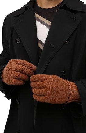 Мужские кашемировые перчатки INVERNI светло-коричневого цвета, арт. 5047 GU   Фото 2 (Материал: Кашемир, Шерсть; Кросс-КТ: Трикотаж)