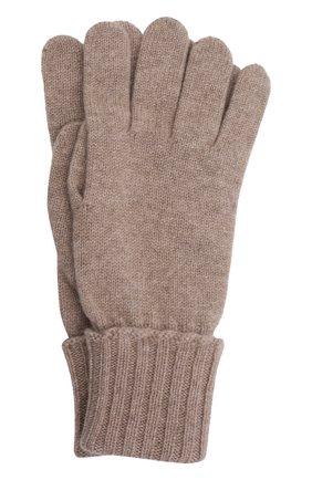 Мужские кашемировые перчатки INVERNI темно-бежевого цвета, арт. 5047 GU   Фото 1 (Материал: Кашемир, Шерсть; Кросс-КТ: Трикотаж)