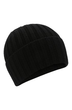 Мужская кашемировая шапка INVERNI черного цвета, арт. 4712 CM   Фото 1 (Материал: Шерсть, Кашемир; Кросс-КТ: Трикотаж)