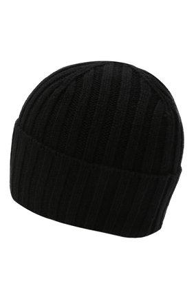 Мужская кашемировая шапка INVERNI черного цвета, арт. 4712 CM   Фото 2 (Материал: Шерсть, Кашемир; Кросс-КТ: Трикотаж)