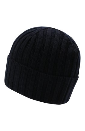 Мужская кашемировая шапка INVERNI темно-синего цвета, арт. 4712 CM   Фото 2 (Материал: Кашемир, Шерсть; Кросс-КТ: Трикотаж)