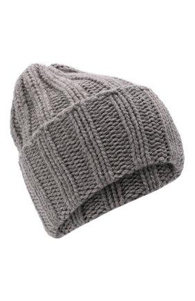 Мужская кашемировая шапка INVERNI светло-серого цвета, арт. 1128 CM   Фото 1 (Материал: Кашемир, Шерсть; Кросс-КТ: Трикотаж)